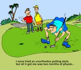 Golf Cartoons… More than making furrows in a lawn!